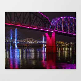 Three Bridges Over the Ohio Canvas Print