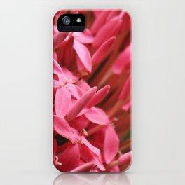 Dramatic Ixora iPhone Case