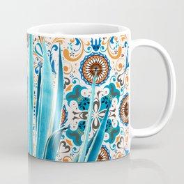 Cactus and Moroccan tiles Coffee Mug