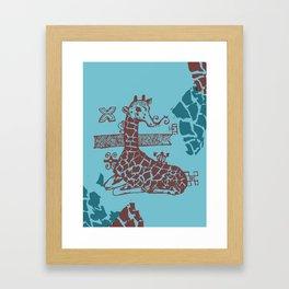 Giraffa camelopardalis Framed Art Print