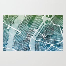 New York City Street Map Rug