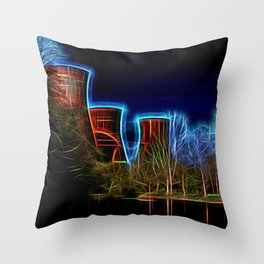Digital Art Ironbridge Power Station Throw Pillow
