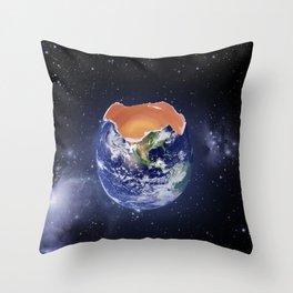 Environment Concept Life is Fragile Earth Egg  Throw Pillow