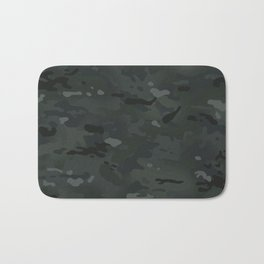 Camouflage: Black Bath Mat