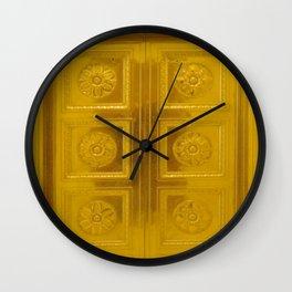 Gold Doors photography Wall Clock