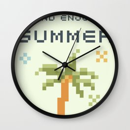 8Bit Palm Tree Wall Clock