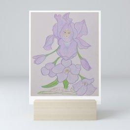 Flor de Fantasias Larkspur Mini Art Print