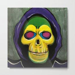 Skeletor Action Figure Portrait of Evil Metal Print