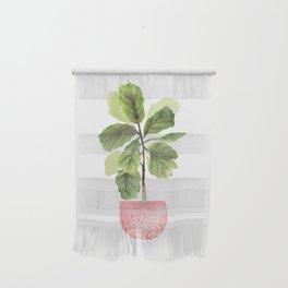 Fiddle-Leaf Fig (Watercolor) Wall Hanging