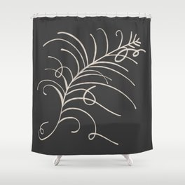 loopy feather Shower Curtain