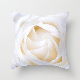 White rose flower Throw Pillow