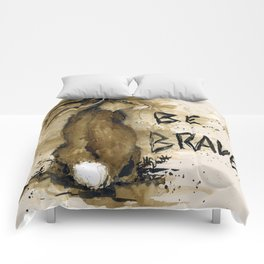 Be Brave Rabbit Comforters