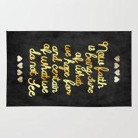 faith Area & Throw Rugs featuring Faith  by Perrin Le Feuvre