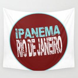 Ipanema, Rio de Janeiro, text, circle Wall Tapestry