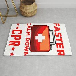 We're Talking CPR Instructor EMT y Resuscitation Rug