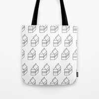 milk Tote Bags featuring milk by sharon