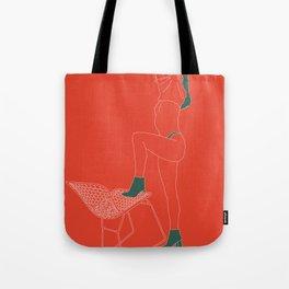 Orange-Green Tote Bag
