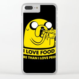 I love food more than I love people Clear iPhone Case