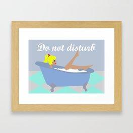 Do not disturb (Blonde) Framed Art Print