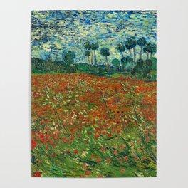 Vincent Van Gogh Poppy Field Poster