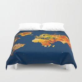 World Map 41 Duvet Cover