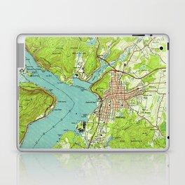 Vintage Map of Peekskill New York (1947) Laptop & iPad Skin