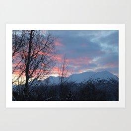 Pink And Blue Sunrise Art Print