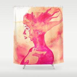 Firestorm Woman Shower Curtain