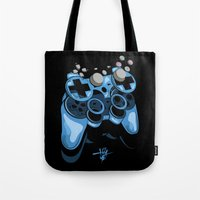gamer Tote Bags featuring Gamer by Hey Yet