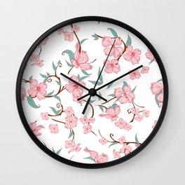 Creepy Flowers Pattern Wall Clock