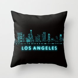 Digital Cityscape: Los Angeles, California Throw Pillow