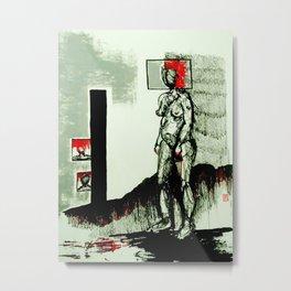 De la serie miedo  Metal Print