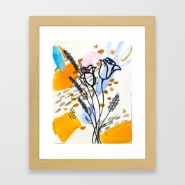 Homebody Floral Framed Art Print