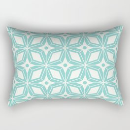 Starburst - Aqua Rectangular Pillow
