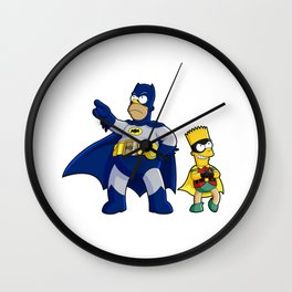 superhero batrob simpson Wall Clock
