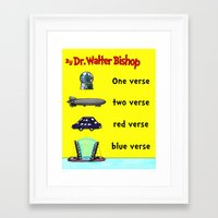 verse Framed Art Prints featuring Fringe One Verse, Two Verse, Red Verse, Blue Verse by Passive Fluency