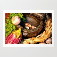 vegetables Art Prints featuring vegetables by  Agostino Lo Coco