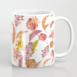 Falling Autumn Leaves Collage Coffee Mug