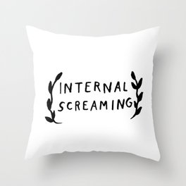 Internal screaming Throw Pillow
