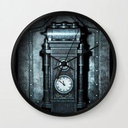 Silver Steampunk Generator Machine Wall Clock