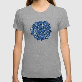 Hibiscus and Plumeria - Blue T-shirt