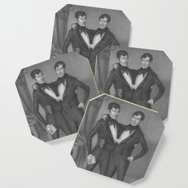 Chang and Eng Bunker - Siamese Twins Portrait Coaster