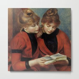 "Auguste Renoir ""The Two Sisters"" Metal Print"