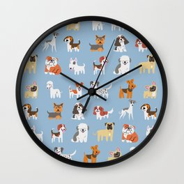 ENGLISH DOGS Wall Clock