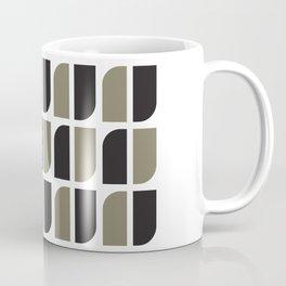 Geometric Pattern #41 (black gray) Coffee Mug