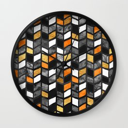 Fall Herringbone Wall Clock