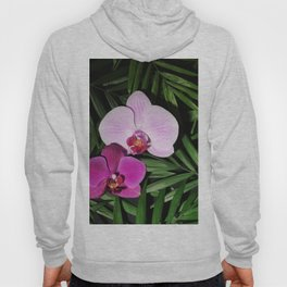 Orchids with palm leaves Hoody