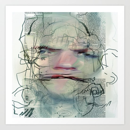Byline Art Print