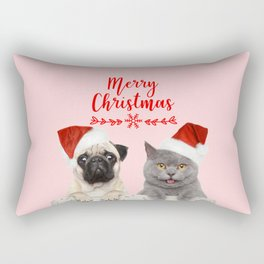 Merry Christmas Rectangular Pillow