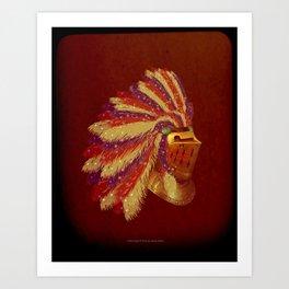 Indian Knight 141WP Art Print
